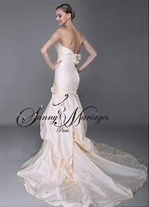 Robe De Mariée Champagne : robe de mariee sirene taffetas couleur champagne sunny mariage ~ Preciouscoupons.com Idées de Décoration