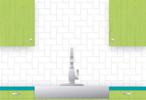 herringbone subway tile pattern