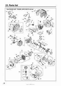 Red Max Tr2300s 05 S  N 51000101  U0026 Up Parts Diagram For