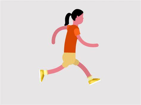Rubberhose Running Girl Wip By Gerold Brunner