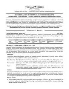 modern curriculum vitae formats banking executive resume sle resumes design