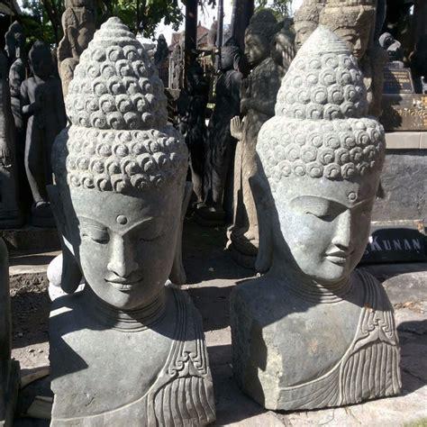 buddha head garden decor hand carved stone bali