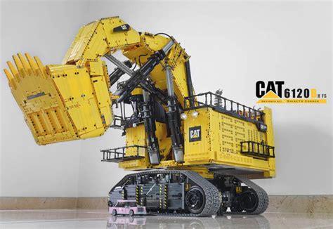 caterpillar abu abu lego technic caterpillar 6120b mining shovel rc the lego