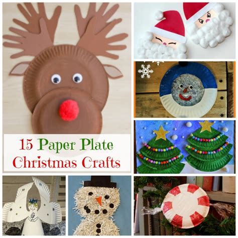christmas projects paper plate christmas crafts how wee learn