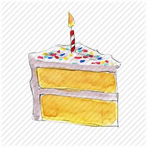 Birthday cake slice candle | Birthday Cakes with Name and ...