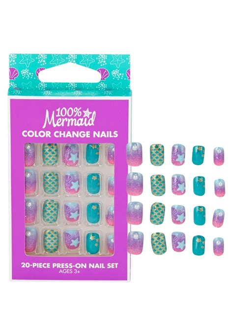 color change shoo color change mermaid press on nails justice new do