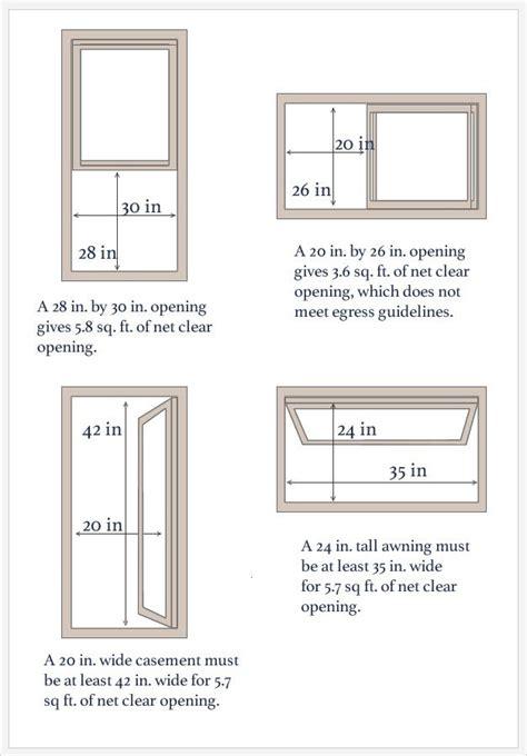 minimum size double hung window  egress interior barn doors egress window egress
