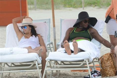 serena williams bikini candids   beach  miami
