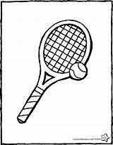 Tennis Tennisracket Ball Tenis Kiddicolour Racquet Tennisbal Raquette Pelota Raqueta Drawing Kleurplaat Colouring Balle Coloriage Kiddicoloriage Kleurprent Dibujo Tekening Colorier sketch template