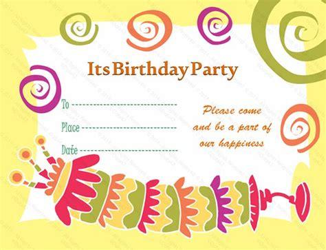 birthday invitation card template  invitations