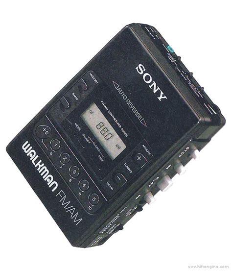 sony wm  manual walkman radio cassette player