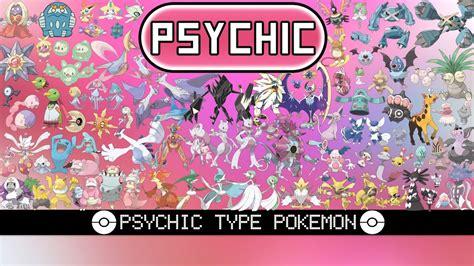 All Psychic Type Pokémon