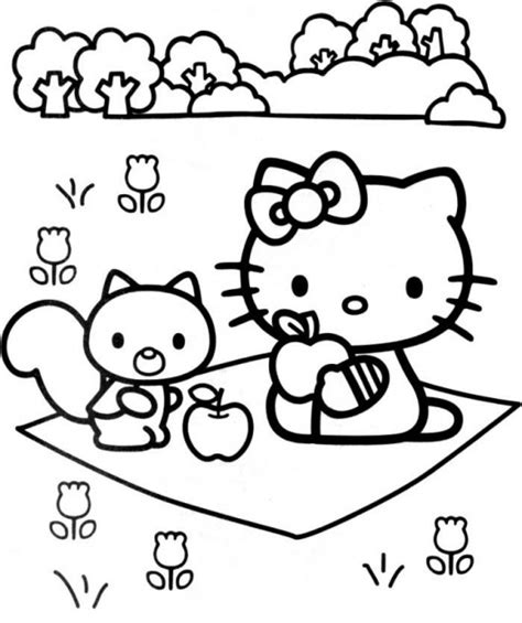 printable  kitty coloring pages printable