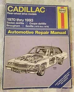 Haynes Cadillac Automotive Repair Manual 1970