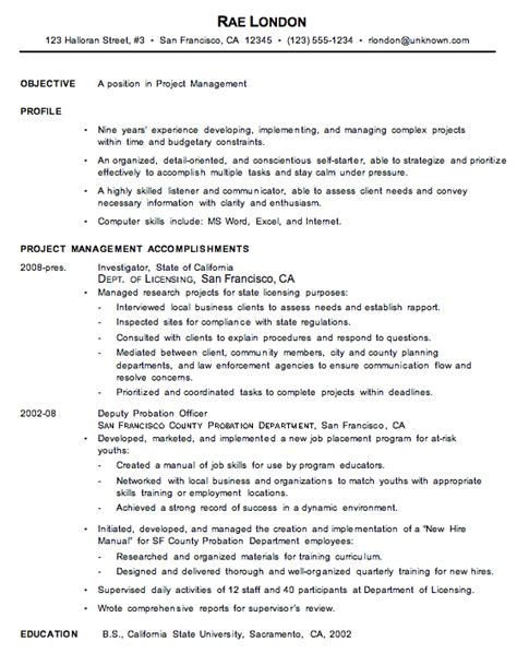 general objective for resume exles ideas help me
