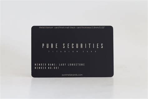 You may be able to get more rewards or benefits with other cards that are less expensive, but if you're looking for the heaviest card with the lowest annual fee, this is it. Matt Black Titanium Cards | PURE METAL CARDS