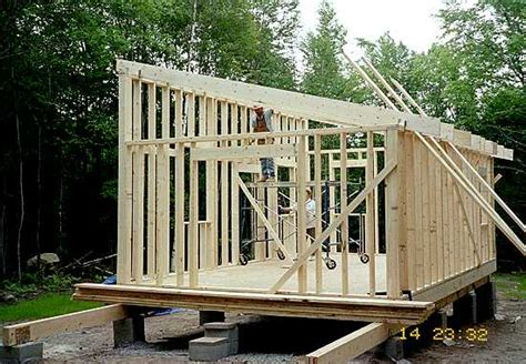 Slant Roof Shed Construction by How To Build A Shed Roof Building Shed Roof Rafters My