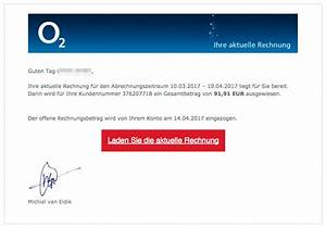 O2 Rechnung Online Einsehen : erneute viruswarnung gef lschte rechnungen von o2 mit intelligentem virus ~ Themetempest.com Abrechnung