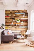 Add Design Texture With Reclaimed Wood Walls Home Decorating Blog And Then There Is This Incredible Wood Plank Wall DIY From Shanty 2 DIY Pipe Shelf Reclaimed Wood Plank Walls Get A Little Peek Of Our Progress While I Share Our New Planked Wall