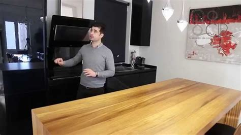 cocina en negro brillo  madera de iroco una preciosidad