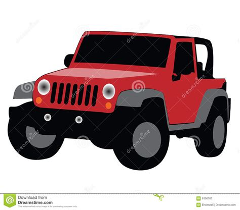 yellow jeep clipart jeep illustration stock illustration illustration of