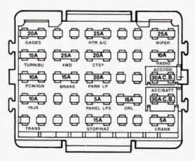 01 Chevy Truck Fuse Box by 2001 Chevy Silverado 2500 Fuse Box Diagram Automotive