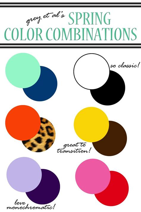 Color Combinations  Spring Color Combinations For