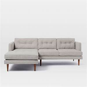 Peggy mid century chaise sectional west elm for West elm peggy sectional sofa