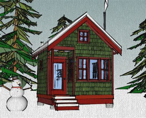 The Borealis Writer's Cabin 12'x12' Tiny House Plans