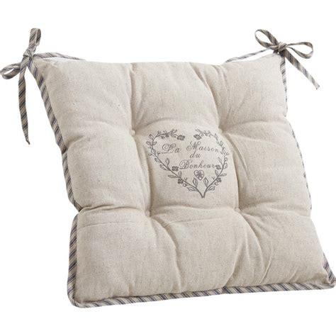 coussins de chaise coussin de chaise avec coeur gris nco1700 aubry gaspard