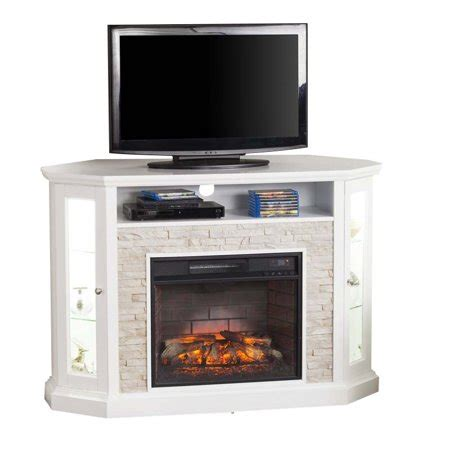 fireplace tv stand walmart southern enterprises redden corner electric fireplace tv