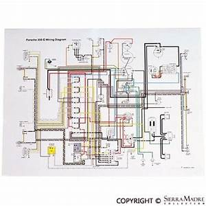 Full Color Wiring Diagram  Porsche 356c  Sc  64