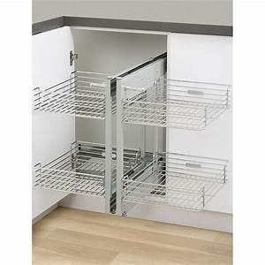 Kaboodle 2 Tier Chrome Blind Corner Soft Close Pull Out