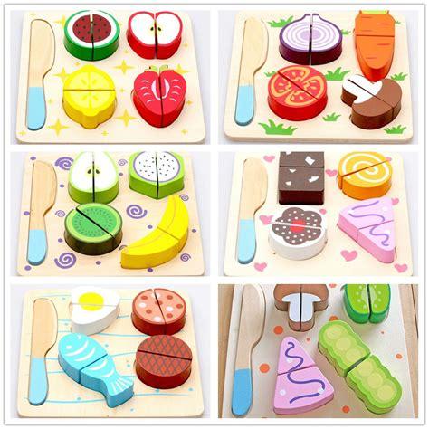accessoire cuisine jouet en bois dessert fruits légumes aliments de coupe de