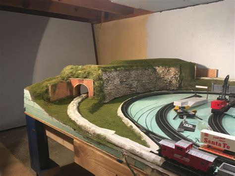 detailed  ho model train layout