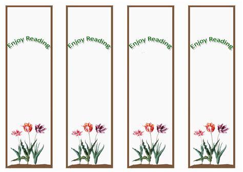 garden bookmarks birthday printable