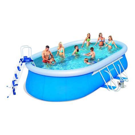 bestway kit piscine ovale autoportante 5 49x3 66x1 22 m achat vente piscine hors sol pas cher