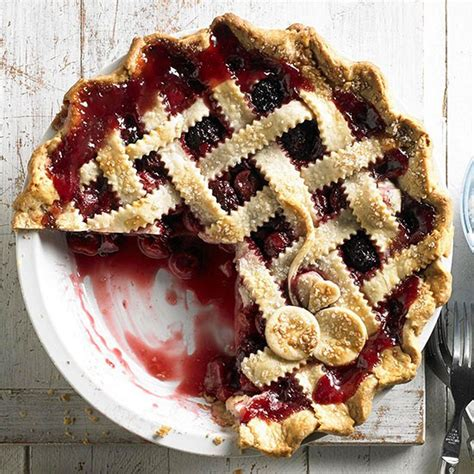 cherry blackberry pie recipe better homes and gardens magazine july 2013 eat your books