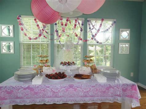 diy bridal shower decorations table decor food display