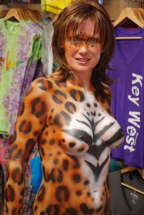 Naked Woman Body Painted At Fantasy Fest November Voyeur Web Hall Of Fame