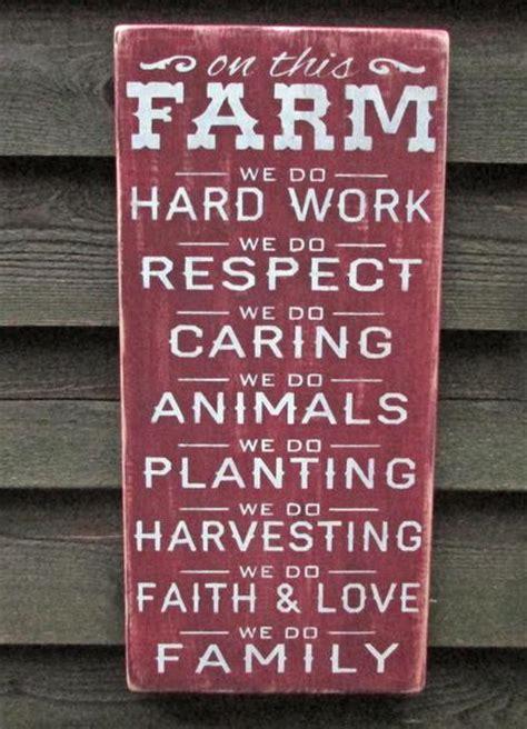 rustic farm sign primitive home decor wood sign hand