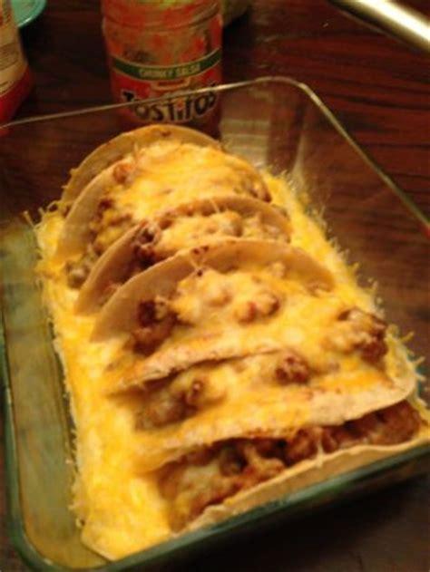 oven baked tacos recipe foodcom