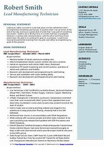 Professional Skills On Resume Manufacturing Technician Resume Samples Qwikresume