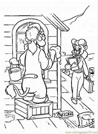 Coloring Cleaning Pages Wildcat Drawing Spin Tale