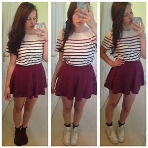 Alice Wright - Topman Boyfriends Top New Look Skater Skirt Converse White High Tops Primark ...