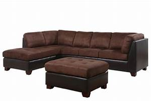 Abbyson living santa maria sectional sofa ottoman dark for Taylor sectional sofa and ottoman dark brown