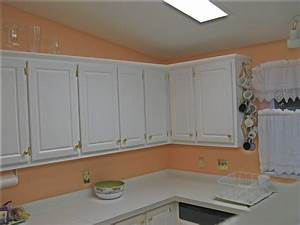 Peach kitchen ideas peach kitchen ideas quicua compeach for Kitchen colors with white cabinets with word wall art stickers