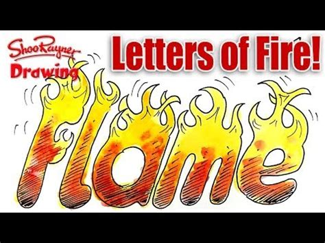 draw letters  fire shoo rayner author