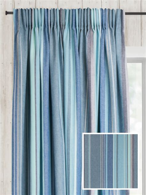 Drapery Company by Ready Made Pencil Pleat Curtains In Azure