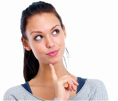 Woman Smiling Thinking Female Beauty Face Looking